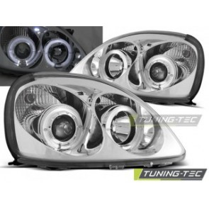 Koplamp set Toyota Yaris 04.99-09.03 Angel Eyes Chroom