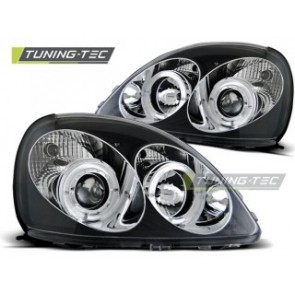 Koplamp set Toyota Yaris 04.99-09.03 Angel Eyes Zwart