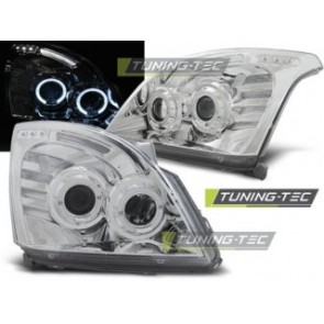 Koplamp set Toyota Land Cruiser 120 03-09 Angel Eyes Chroom