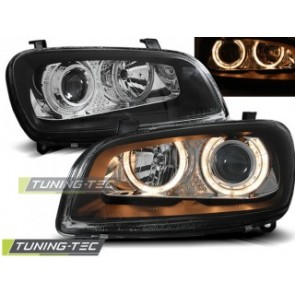 Koplamp set Toyota Rav4 06.94-06.00 Angel Eyes Zwart