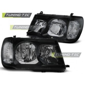 Koplamp set Toyota Land Cruiser Fj100 98-04 Zwart