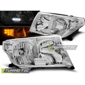 Koplamp set Toyota Land Cruiser Fj200 07- Chroom Led