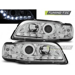 Koplamp set Volvo S40/V40 02.96-04.00 Daylight Chroom