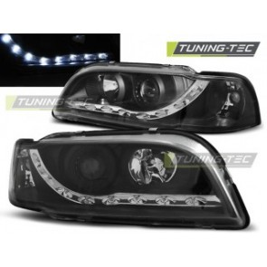 Koplamp set Volvo S40/V40 02.96-04.00 Daylight Zwart