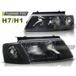 Koplamp set Vw Passat B5 3 B 11.96-08.00 Zwart