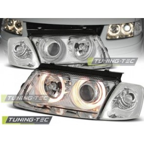 Koplamp set Vw Passat B5 3 B 11.96-08.00 Angel Eyes Chroom