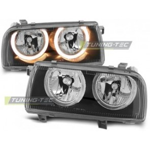 Koplamp set Vw Vento 01.92-08.98 Angel Eyes Zwart
