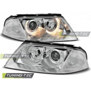 Koplamp set Vw Passat 3 Bg B5 Fl 09.00-03.05 Angel Eyes Chroom