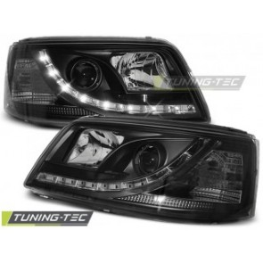 Koplamp set Vw T5 04.03-08.09 Daylight Zwart