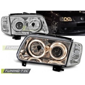 Koplamp set Vw Polo 6 N2 10.99-10.01 Angel Eyes Chroom