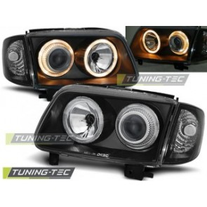 Koplamp set Vw Polo 6 N2 10.99-10.01 Angel Eyes Zwart