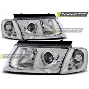 Koplamp set Vw Passat B5 3 B 11.96-08.00 H7/H7 Chroom