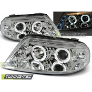 Koplamp set Vw Passat 3 Bg 09.00-03.05 Angel Eyes Chroom-03.05 Angel Eyes Chroom