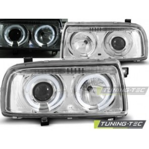 Koplamp set Vw Vento 01.92-08.98 Angel Eyes Chroom