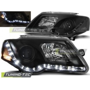 Koplamp set Vw Passat B6 3 C 03.05-10 Daylight Zwart