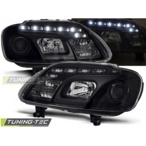Koplamp set Vw Touran 02.03-10.06 / Caddy Daylight Zwart