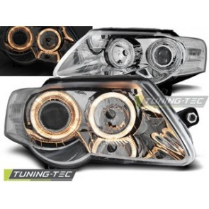 Koplamp set Vw Passat B6 3 C 03.05-10 Angel Eyes Chroom