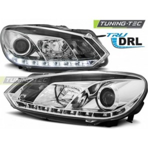 Koplamp set Vw Golf 6 10.08-12 Tru Drl Chroom