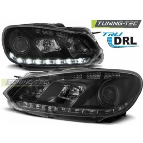 Koplamp set Vw Golf 6 10.08-12 Tru Drl Zwart