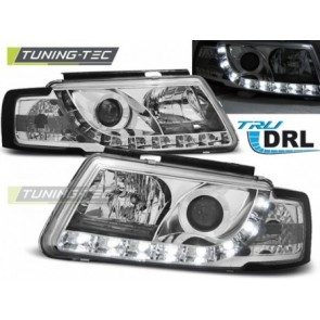 Koplamp set Vw Passat B5 3 B 11.96-08.00 Tru Drl Chroom