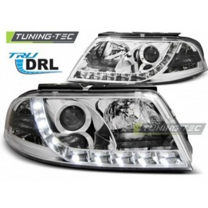 Koplamp set Vw Passat 3 Bg 09.00-03.05 Tru Drl Chroom