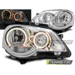 Koplamp set Vw Polo 9 N3 04.05-09 Angel Eyes Chroom