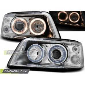 Koplamp set Vw T5 04.03-08.09 Angel Eyes Chroom