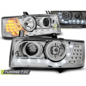 Koplamp set Vw T4 90-03.03 Transporter Daylight Chroom Led Indication
