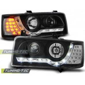 Koplamp set Vw T4 90-03.03 Transporter Daylight Zwart Led Indication