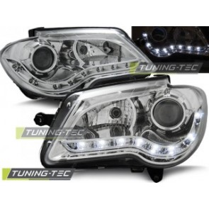 Koplamp set Vw Touran 06-10 Daylight Chroom
