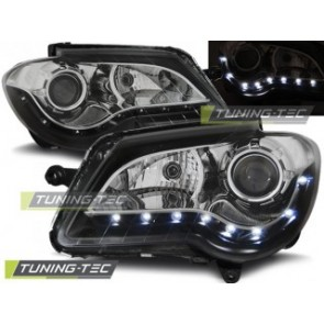 Koplamp set Vw Touran 06-10 Daylight Zwart