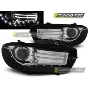 Koplamp set Vw Scirocco 08- Zwart Led