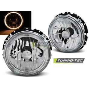 Koplamp set Vw Golf 1 05.74-07.83 Angel Eyes Chroom Buitenzijde