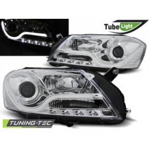 Koplamp set Vw Passat B7 10.10- Chroom Tube Light