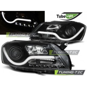 Koplamp set Vw Passat B7 10.10- Zwart Tube Light