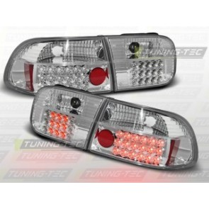 LED Achterlicht setje Honda Civic 09.91-08.95 2 D/4 D Chroom Led