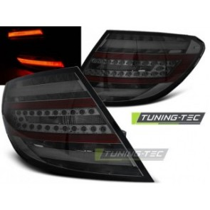 LED Achterlicht setje Mercedes C- Klasse W204 Sedan 07-10 Getint Led Bar