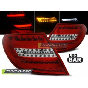 LED Achterlicht setje Mercedes C- Klasse W204 Sedan 07-10 Rood Wit Led Bar