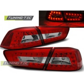 LED Achterlicht setje Mitsubishi Lancer 8 Sedan 08-11 Rood Wit Led