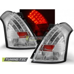 LED Achterlicht setje Suzuki Swift 05.05-10 Chroom Led