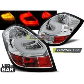 LED Achterlicht setje Skoda Fabia 2 07-heden Chroom Led Bar