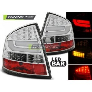 LED Achterlicht setje Skoda Octavia 2 Sedan 03.04-heden Chroom Led Bar