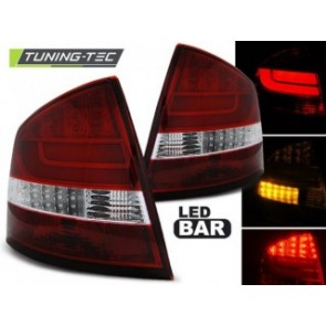 LED Achterlicht setje Skoda Octavia 2 Sedan 03.04-heden Red Wit Led Bar