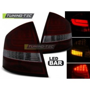 LED Achterlicht setje Skoda Octavia 2 Sedan 03.04-heden Red Getint Led Bar