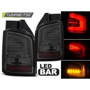 LED Achterlicht setje Vw T5 04.10-heden Getint Led Bar