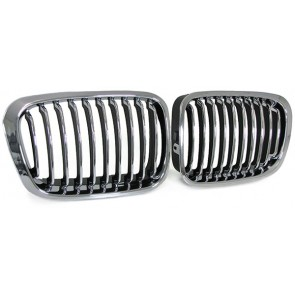 Grill chroom voor BMW E46 Sedan Touring 98-01