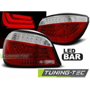 Koplampen BMW E60 07.2003 tot 12.2009  ROOD WIT LED BAR