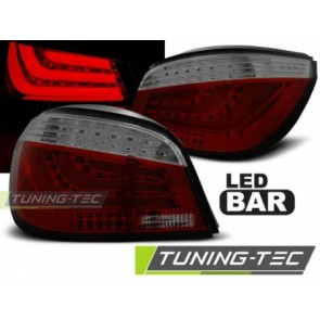 Koplampen BMW E60  07.2003 tot 12.2009 RED SMOKE LED BAR