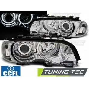 Projector koplampen - BMW E46 04.1999 tot 03.2003 COUPE CABRIO ANGEL EYES  CHROOM CCFL