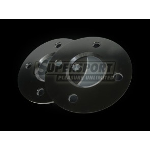 Aluminium spoorverbreders set 10mm per as NISSAN 100NX